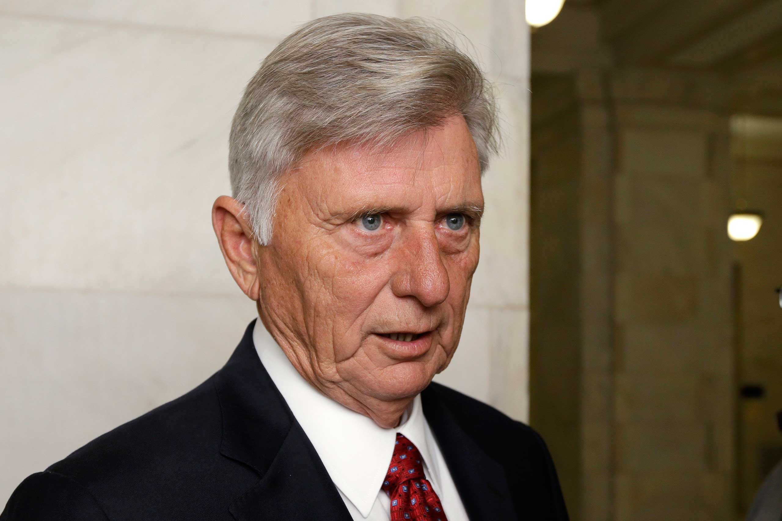 Arkansas Gov. Mike Beebe speaks to reporters at the Arkansas state Capitol in Little Rock, Ark., Nov. 5, 2014.