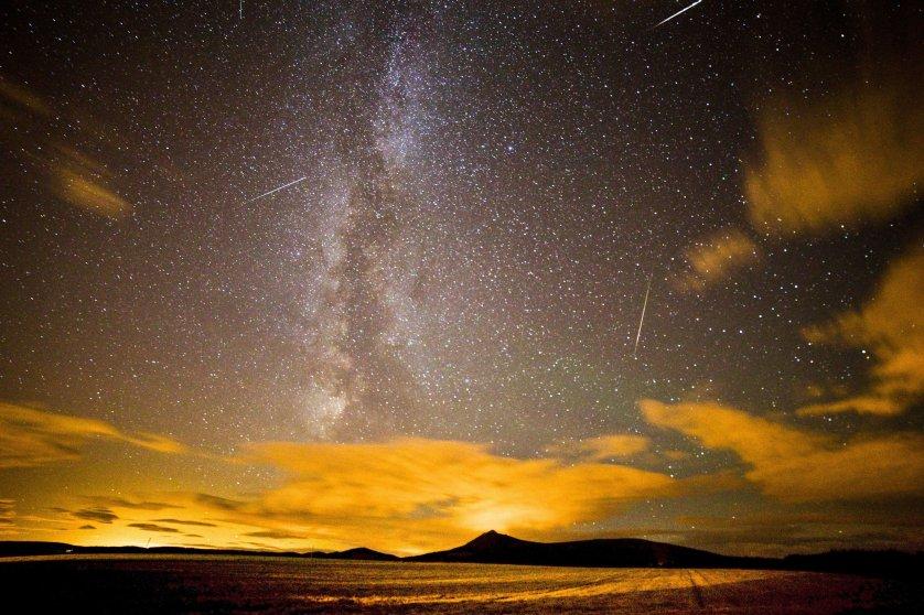 A Perseid meteor shower at Chapel of Garioch, near Aberdeen on Aug. 12, 2013.