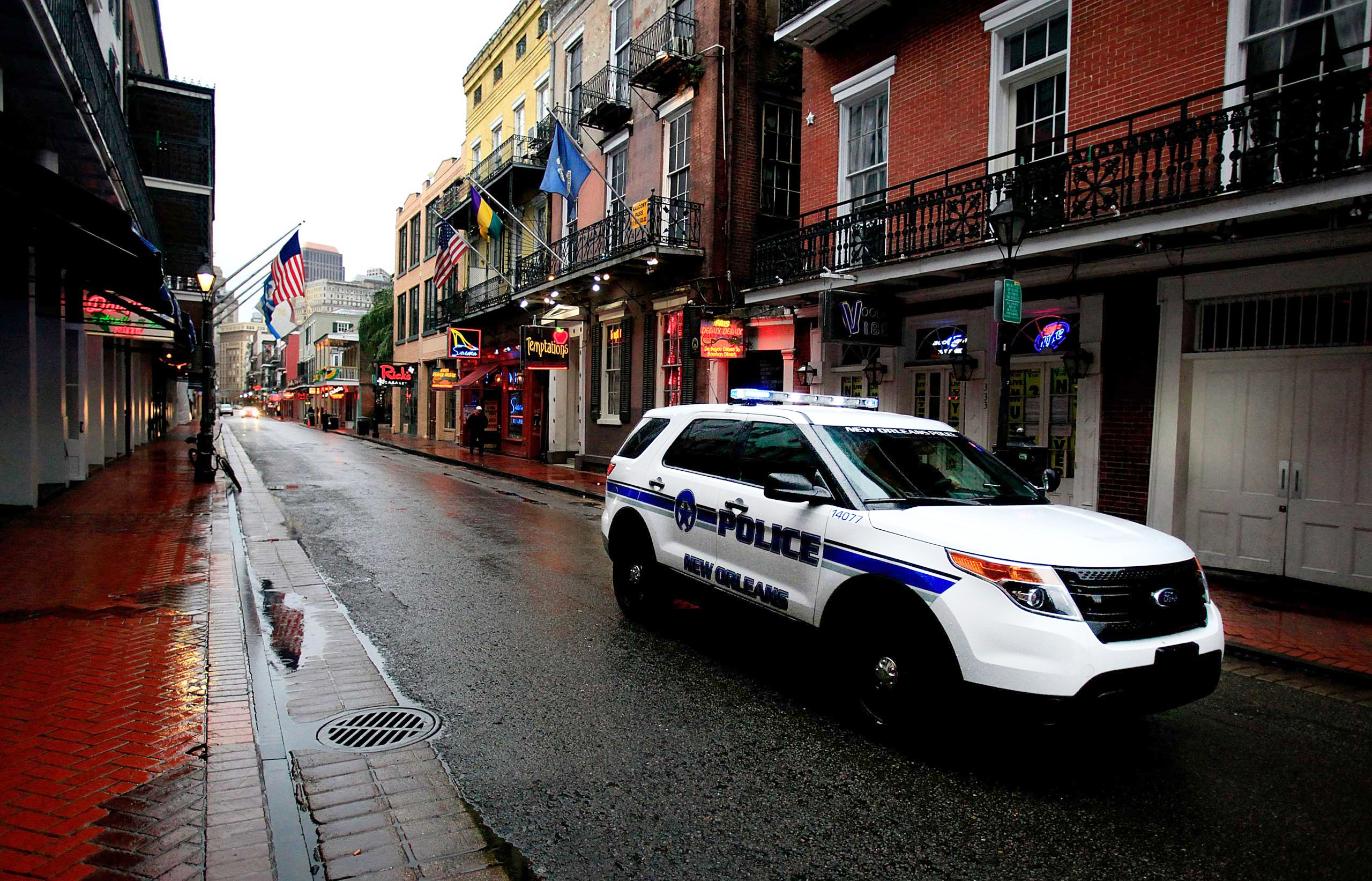 New Orleans Police patrol the French Quarter on Jan. 28, 2014 in New Orleans. An inspector general's report shows that NOPD detectives routinely fail to follow-up and investigate sexual assault cases.