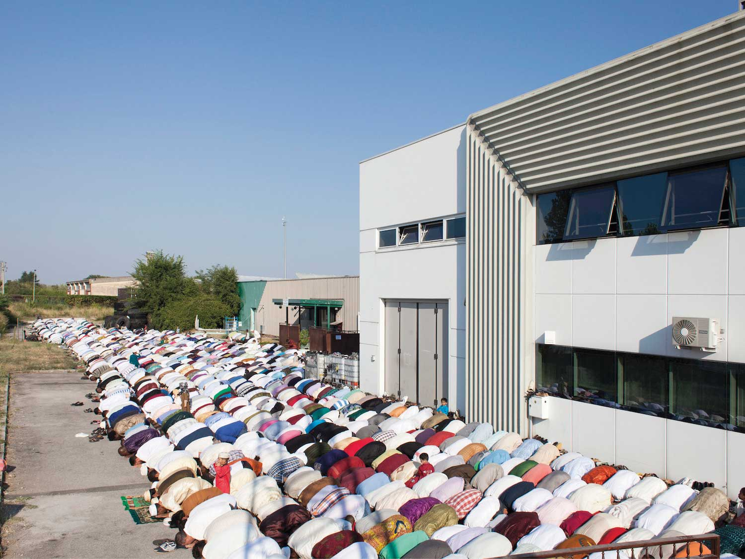 A warehouse used as a makeshift place of worship for Muslims in the Province of Treviso, Italy.