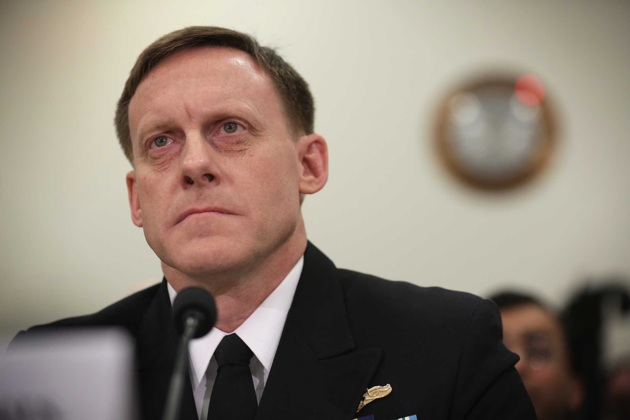 Adm. Michael Rogers, commander of the U.S. Cyber Command and director of the National Security Agency, testifies during a hearing before the House (Select) Intelligence Committee Nov. 20, 2014 on Capitol Hill in Washington, DC.