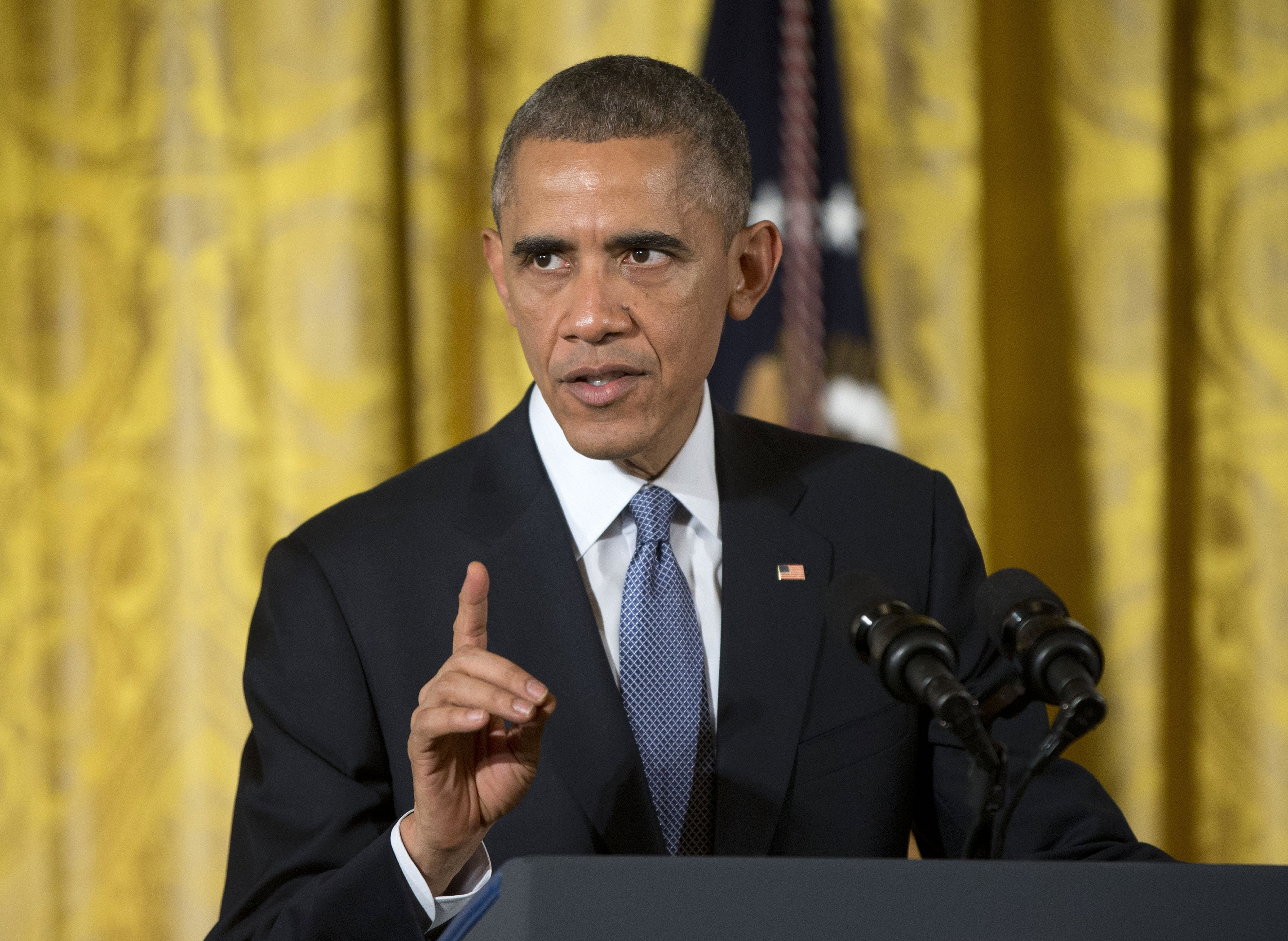 President Barack Obama speaks at the 'ConnectED to the Future', in the East Room of the White House in Washington D.C. on Nov. 19, 2014.