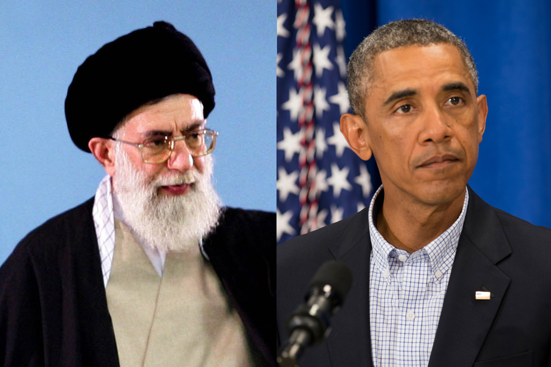 From left: Iran's Supreme Leader Ayatullah Ali Khamenei and U.S. President Barack Obama