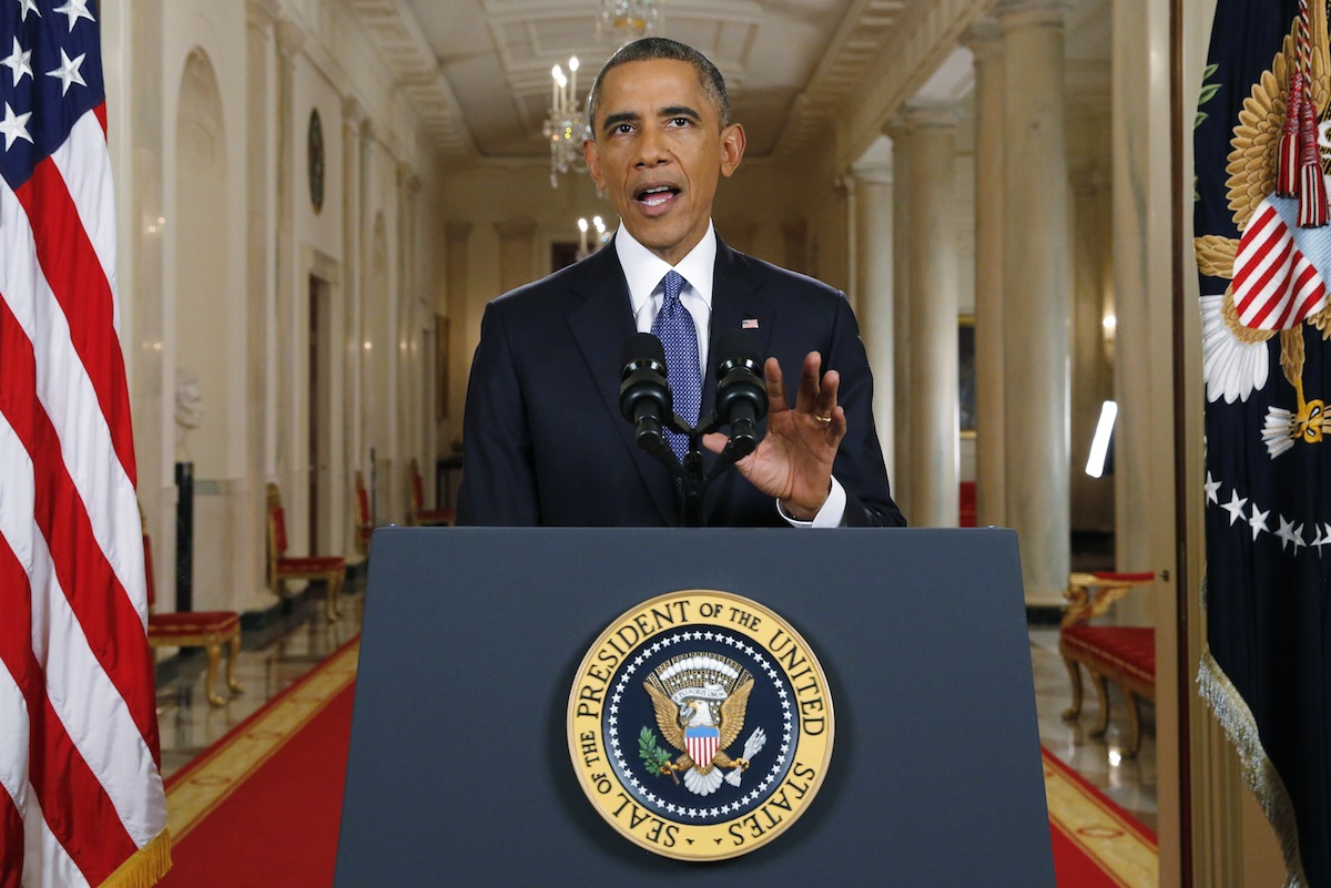 President Barack Obama announces executive actions on immigration during a nationally televised address from the White House in Washington, D.C., on Nov. 20, 2014