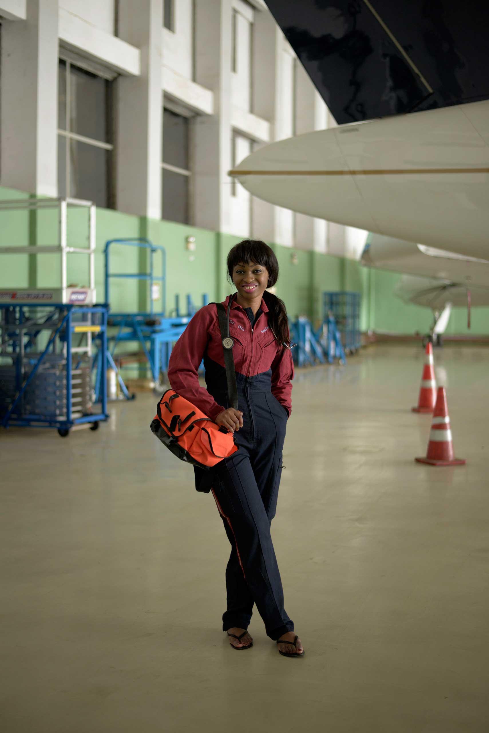 Flying Doctor Ola Orekunrin in Lagos, Nigeria on Aug. 21, 2014.