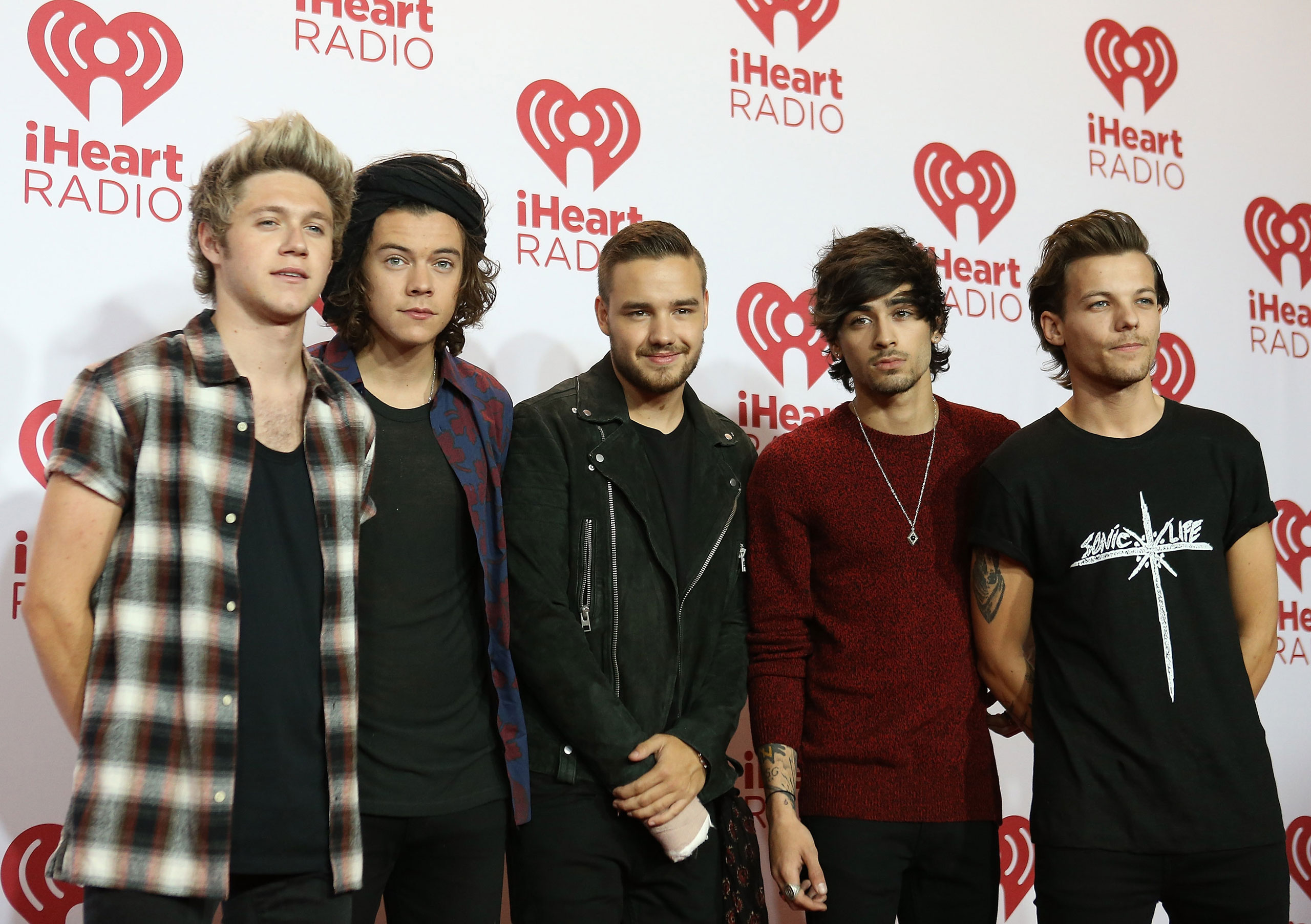 One Direction attend the iHeart Radio Music Festival at MGM Grand Resort and Casino on Sept. 20, 2014 in Las Vegas.