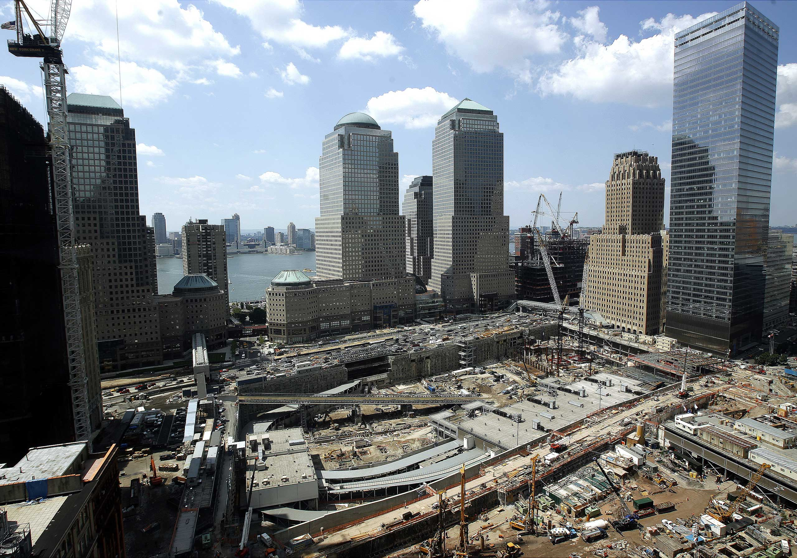 2007 An aerial Elevated view of the World Trade Center site as seen from One Liberty Plaza on Aug. 7, 2007.
