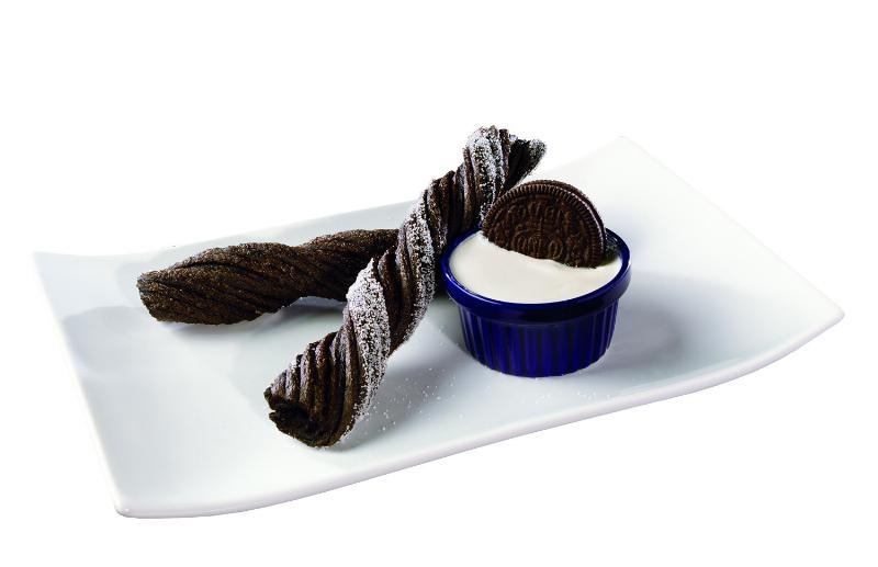 Oreo Churros with Oreo cookie creme dip
