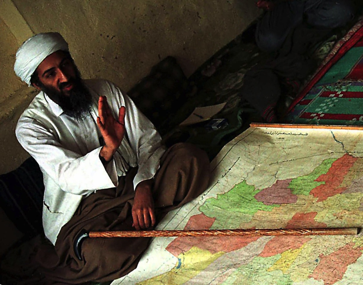 Osama bin Laden is shown in Afghanistan in this April 1998 file photo