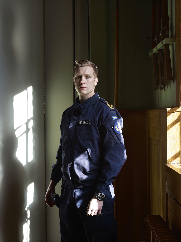 Cadet Jim Ramel Kjellgren, Karlberg Military Academy, Stockholm, April 10, 2013.