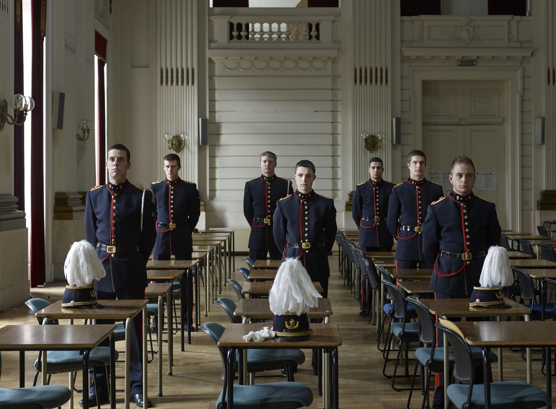 Ecole Royale Militaire.                               Cadets, Brussels, April 12, 2013.