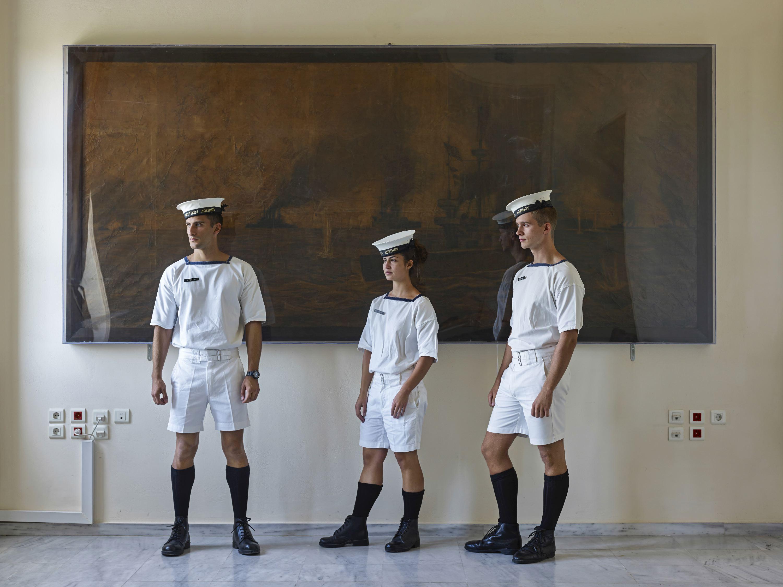Cadets of the Hellenic Naval Academy, Piraeus, Greece, Oct. 9, 2013.