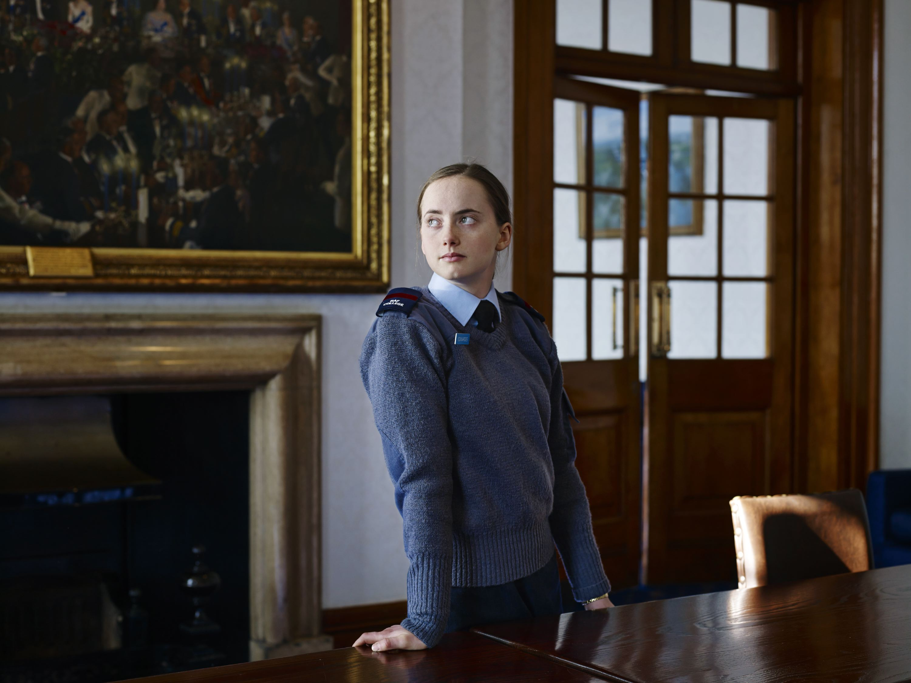Cadet Edwardes at The Royal Air Force's Cranwell College, Lincolnshire, U.K., March, 03, 2014.
