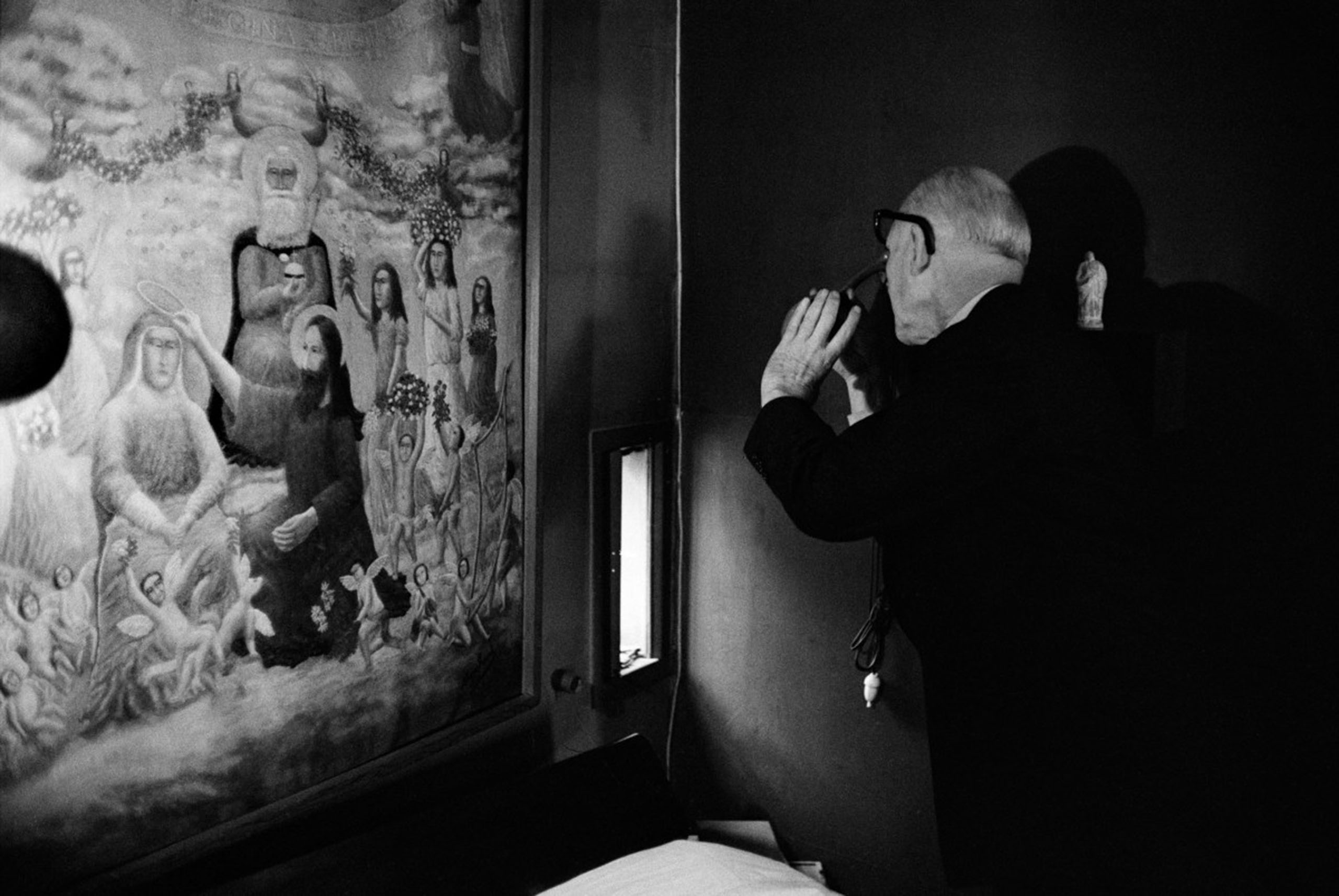 Le Corbusier at his apartment, Paris, 1959.