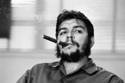 Havana. Ministry of Industry. Ernesto GUEVARA (Che), Argentinian politician, Minister of industry (1961-1965) during an exclusive interview in his office.