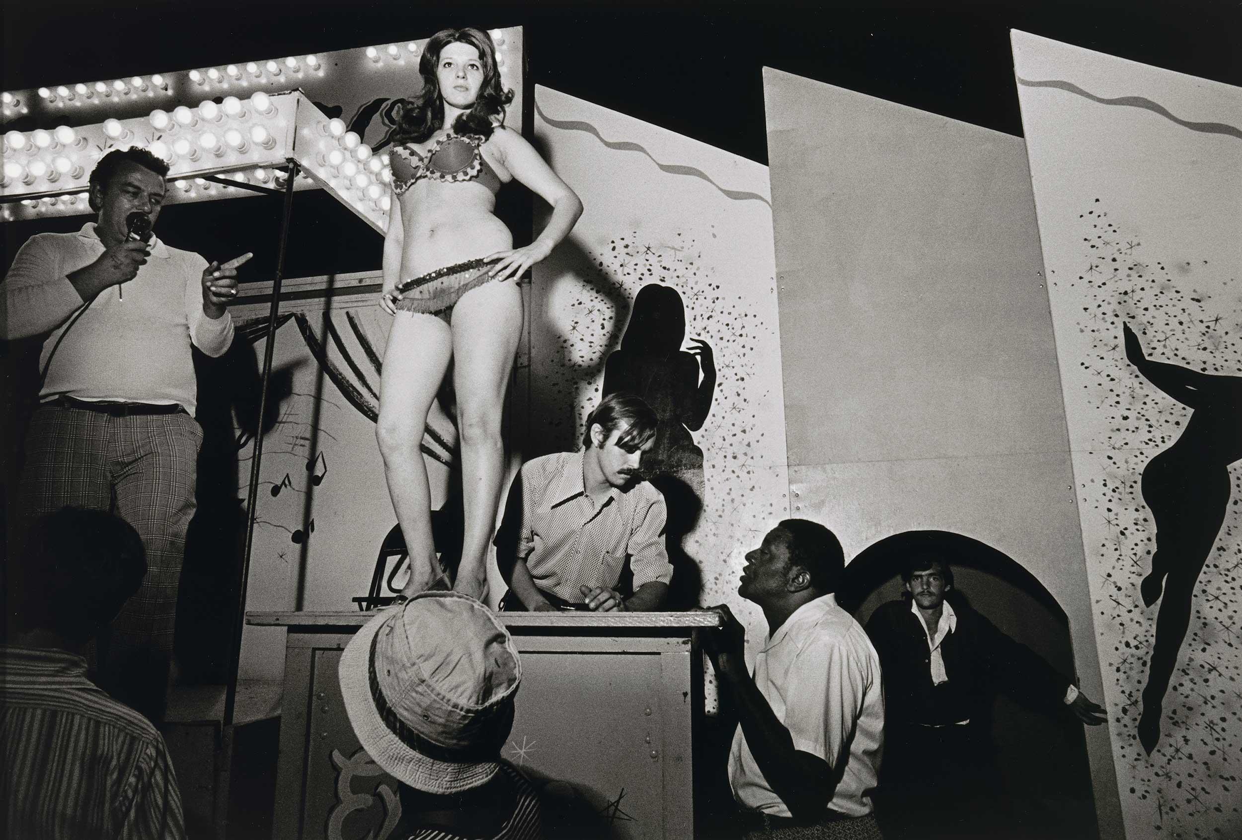 Lena on the Bally Box, Essex Junction, Vt., 1973.
