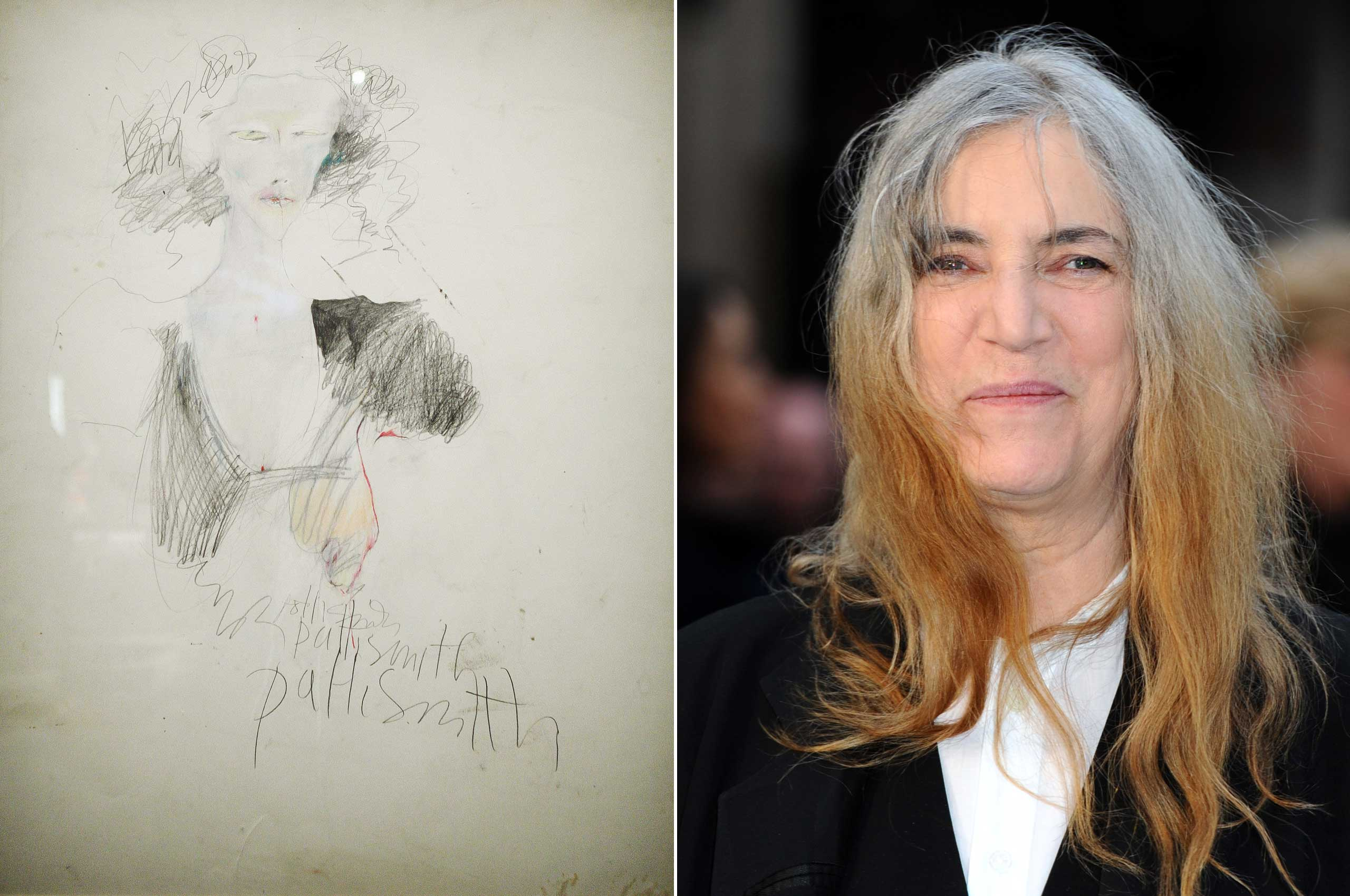 This was the work of Patti Smith, seen in a 2008 exhibit called  Patti Smith, Land 250  in Paris.