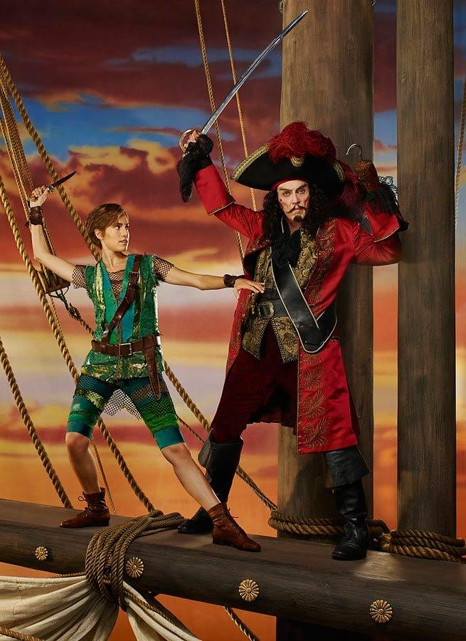 Allison Williams as Peter Pan and Christopher Walken as Captain Hook in Peter Pan Live!