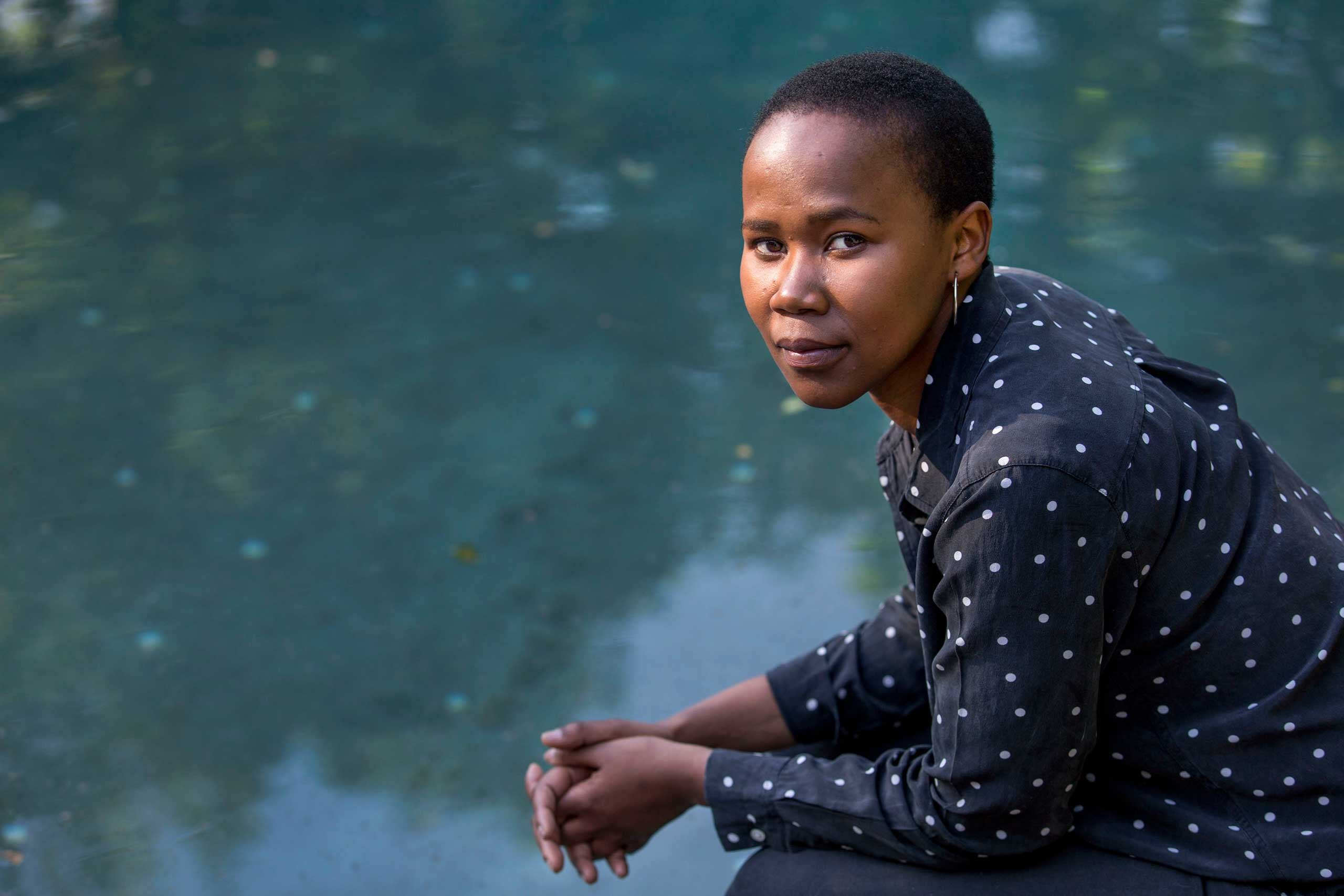 Phindile Sithole-Spong, HIV visionary, writer, and activist, at her home in Johannesburg, South Africa.
