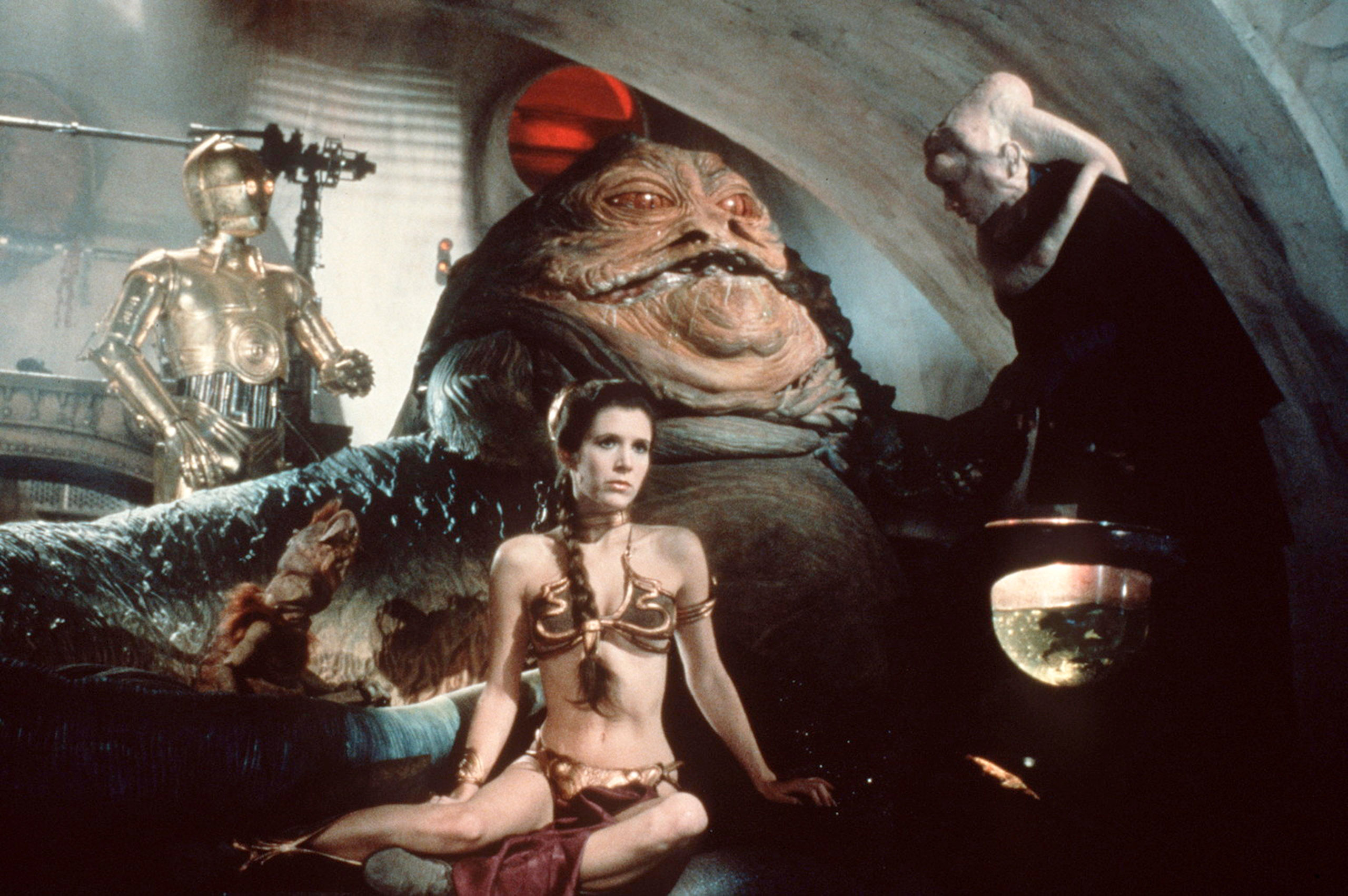 Princess Leia's Metal Bra Arguably as iconic as the Princess's hair buns, this costume piece was created for actress Carrie Fisher after she reportedly complained that her character's costumes were too roomy. It was made using a cast of her body.