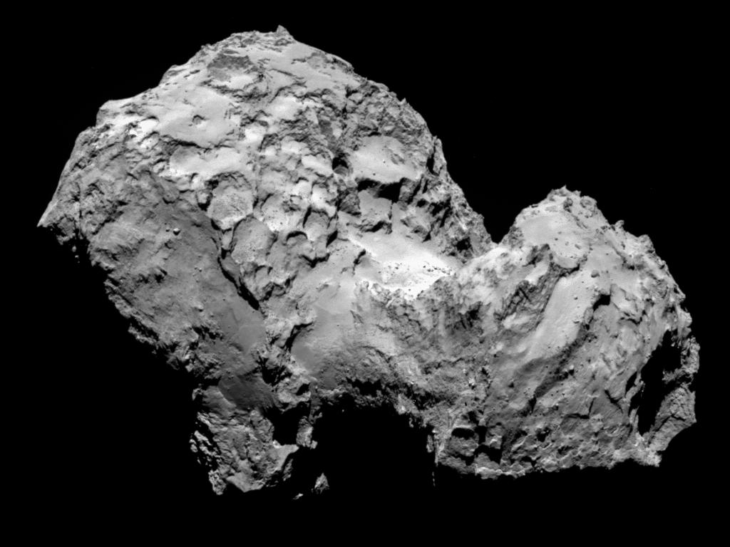 Comet 67P on Aug. 3, 2014.