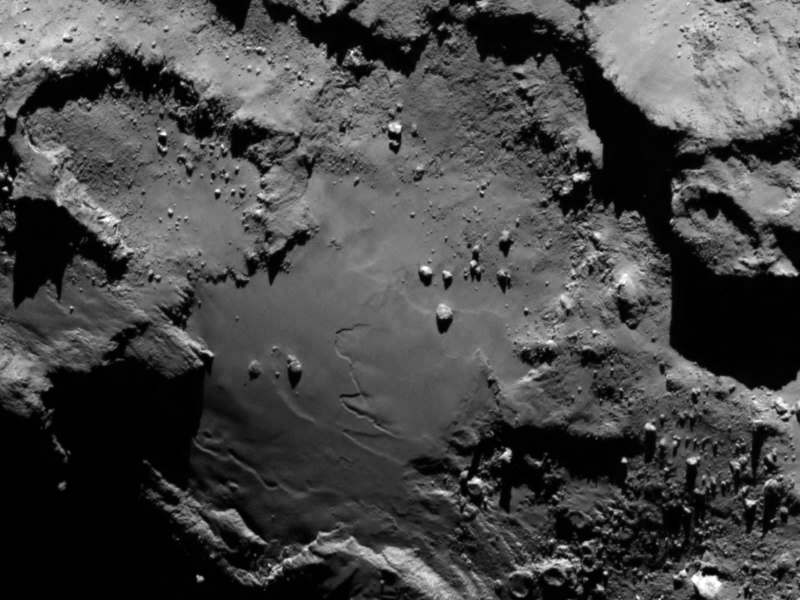 Comet 67P in a photo released on Aug. 6, 2014.