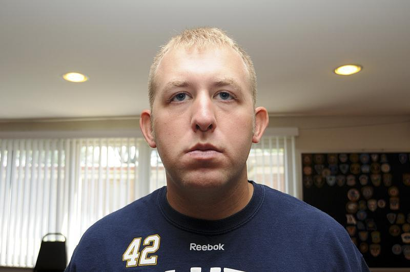 Officer Darren Wilson is pictured in this undated handout evidence photo