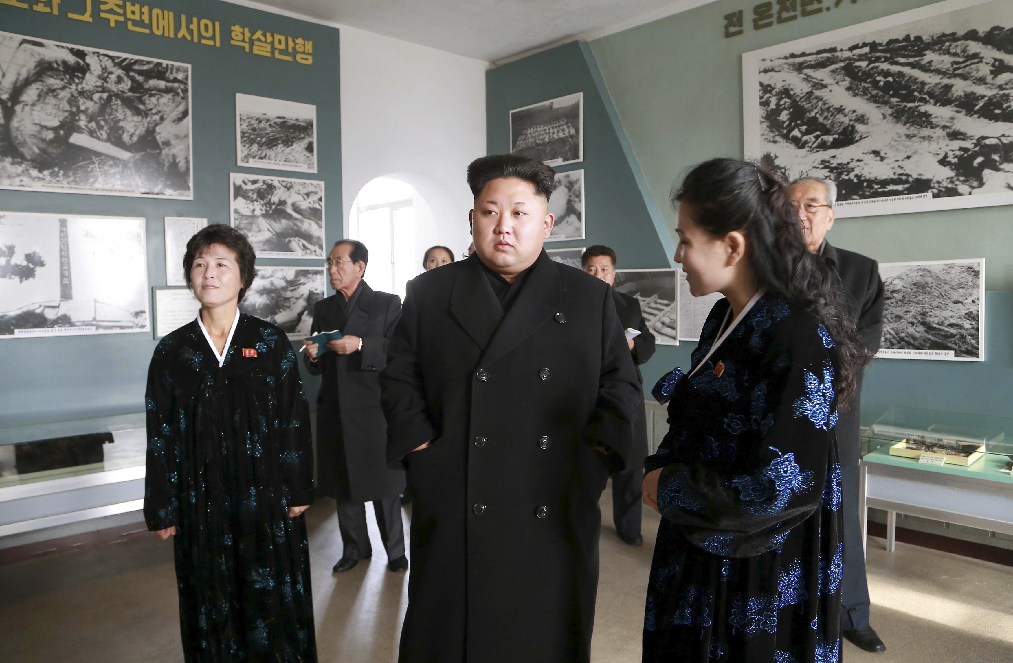 North Korean leader Kim Jong Un gives field guidance to the Sinchon Museum in Pyongyang in this undated photo released by the state-run Korean Central News Agency on Nov. 25, 2014