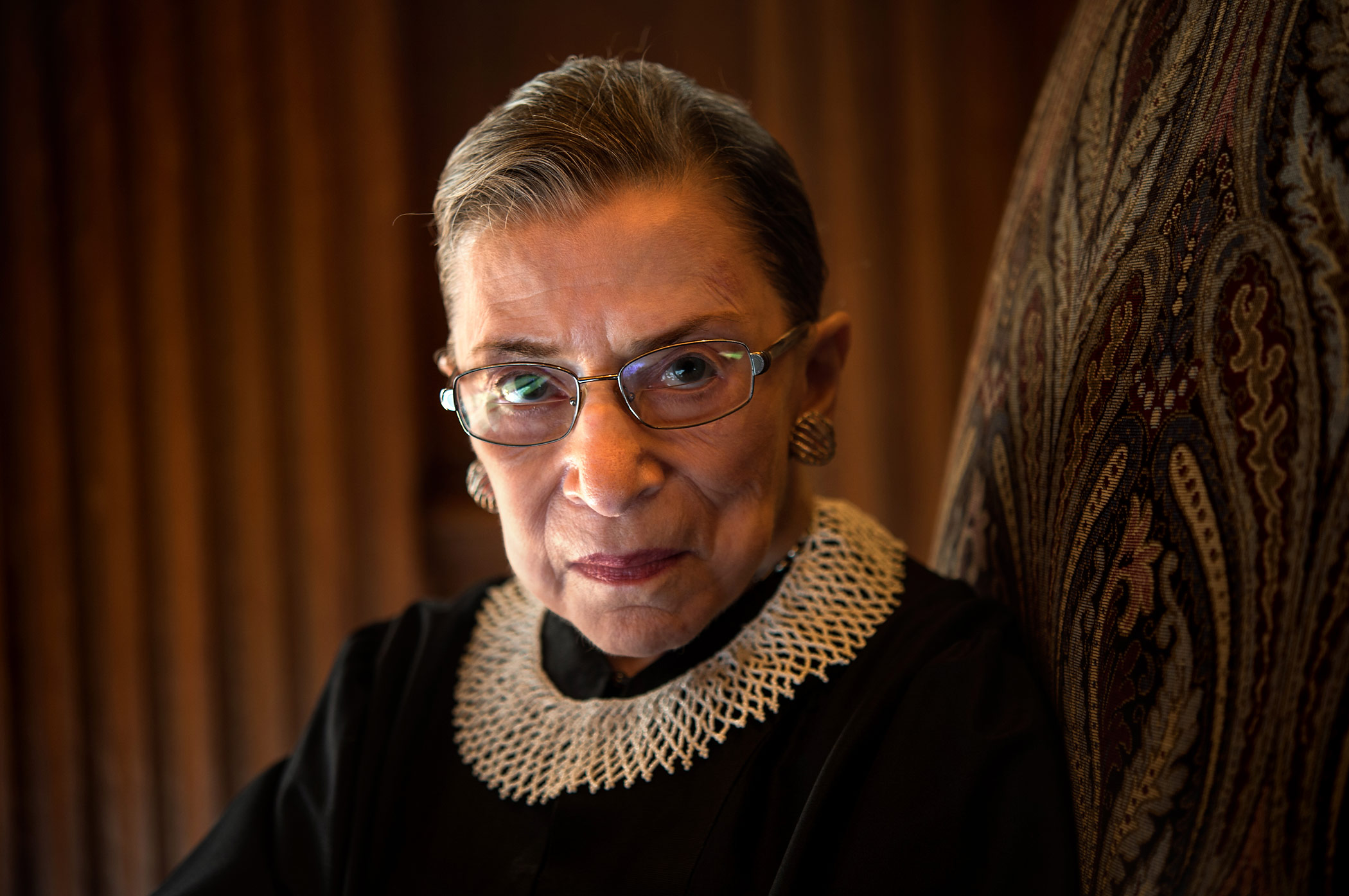 Supreme Court Justice Ruth Bader Ginsburg is photographed in the West conference room at the U.S. Supreme Court in Washington, D.C., on August 30, 2013.