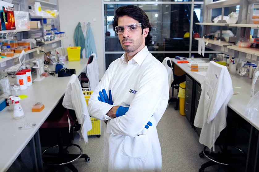 Hosam Mamoon Zowawi  in his laboratory at the UQCCR Centre for Clinical Research.