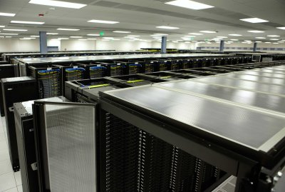 The data center holds tens of thousands servers.