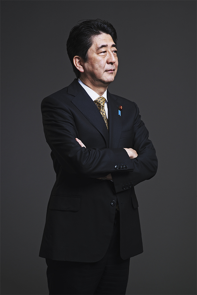 Japan's Prime Minister Shinzo Abe. From  The Patriot.  April 28, 2014 issue.
