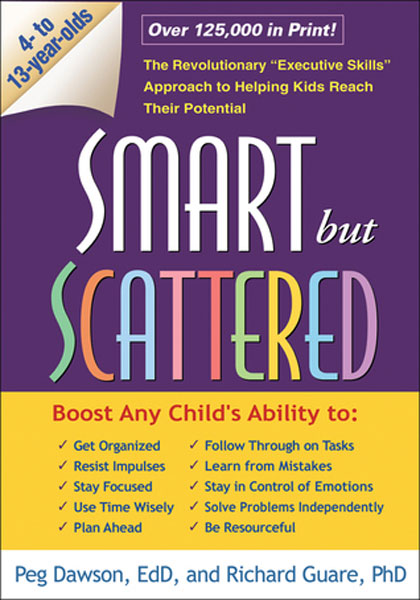Smart But Scattered: The Revolutionary  Executive Skills  Approach to Helping Kids Reach Their Potential, Peg Dawson EdD and Richard Guare PhD                               Lots of quizzes and charts for parents to asses their own organizational habits and skills. A couple of readers have said it's better for younger kids. Some parents suggest it helped them decide whether their kid was just disorganized, or needed medication.