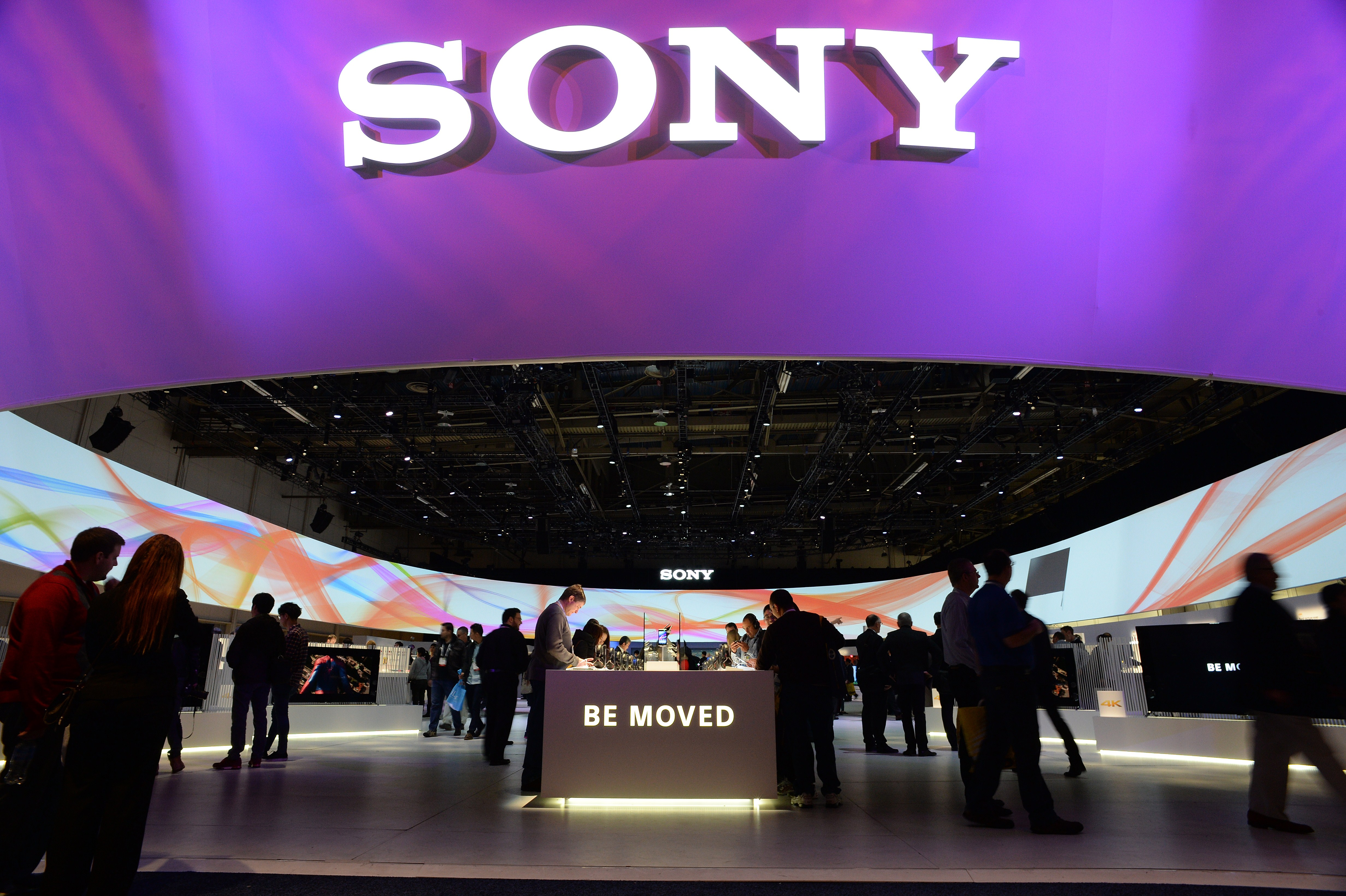 Attendees visit the Sony booth, on the final day of the 2014 International CES, on Jan. 10, 2014 in Las Vegas.