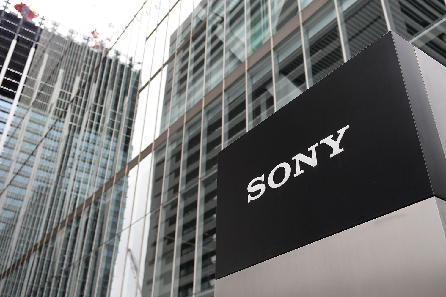 A logo of Japan's Sony Corporation is displayed at its headquarters in Tokyo on May 14, 2014.