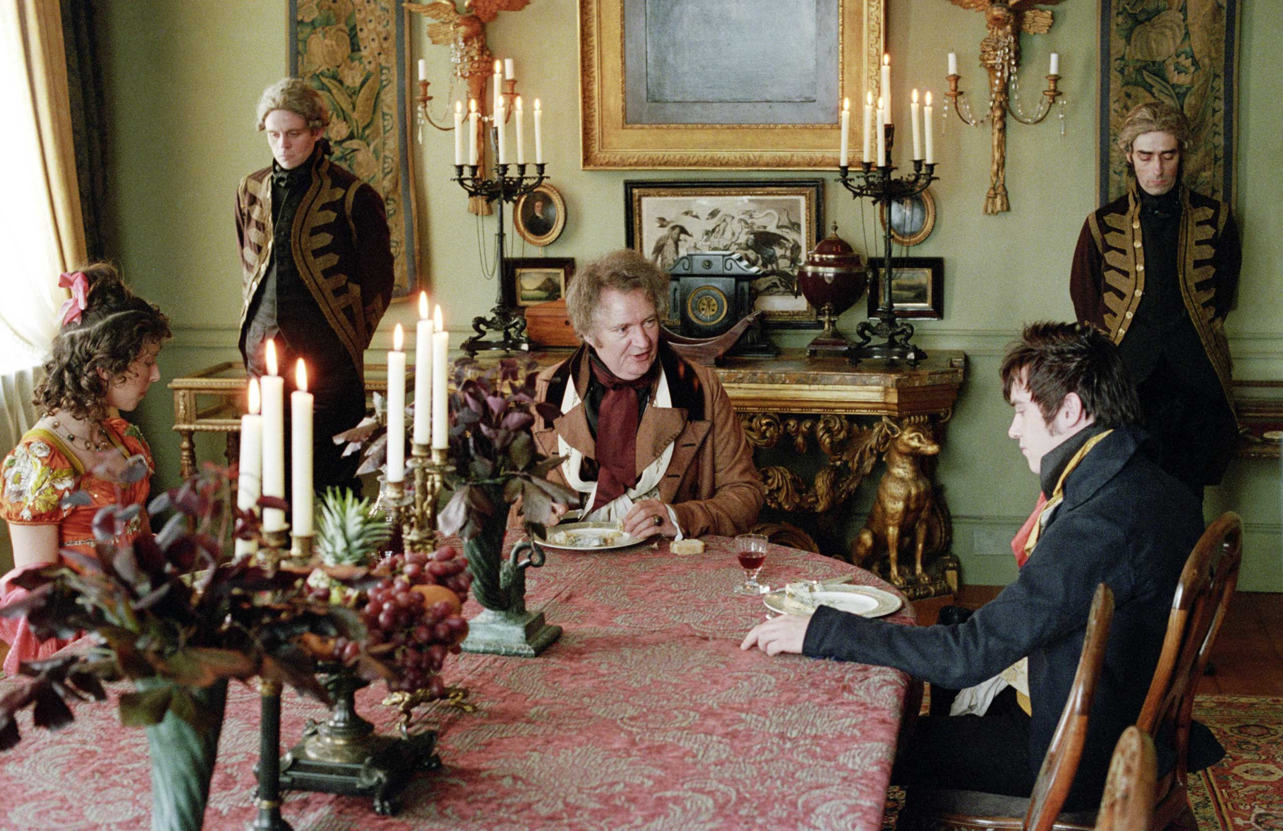 Hunter (left) had a small role as Maria Osborne in the 2004 film <i>Vanity Fair</i>