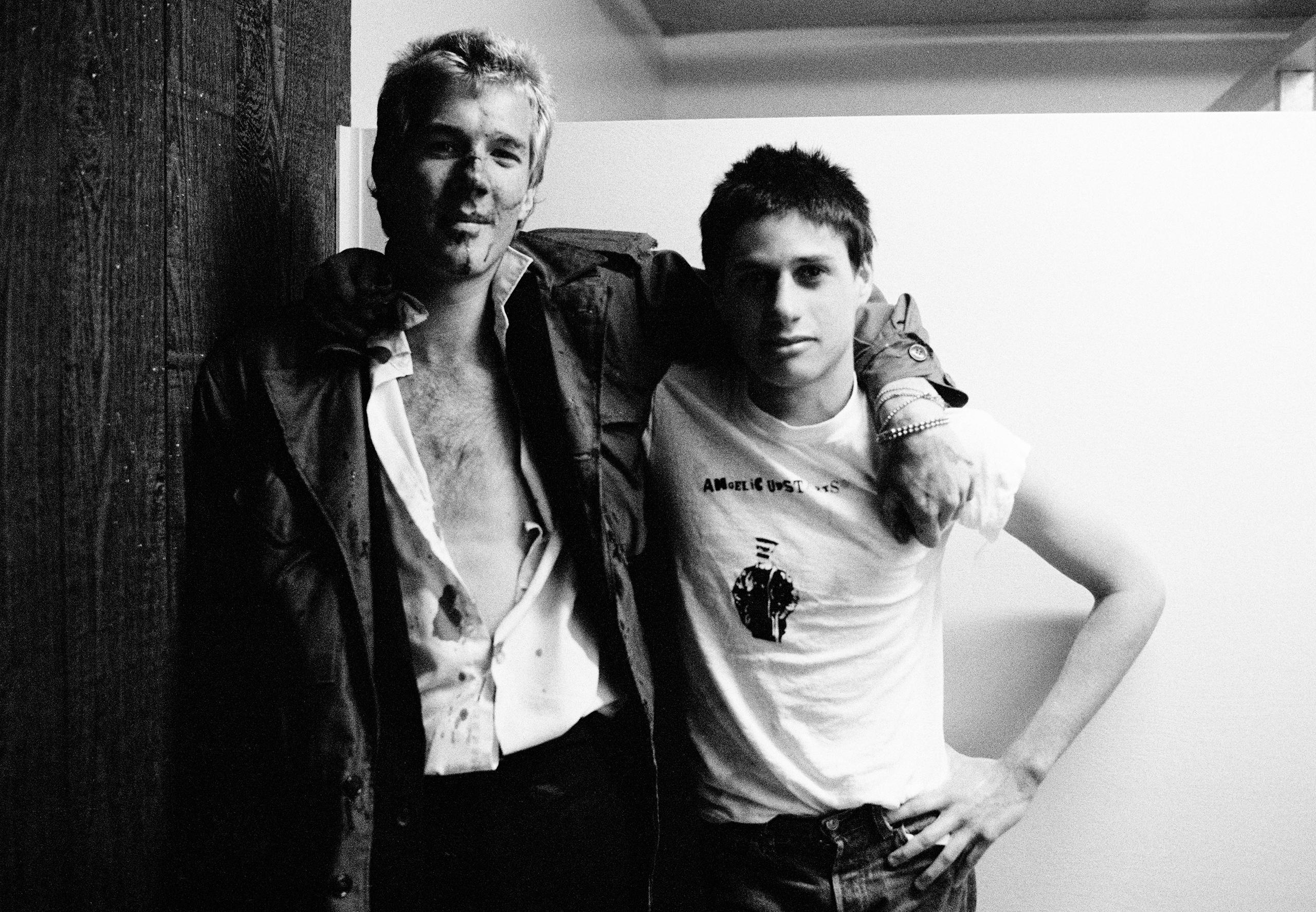 Jim Trash (Crowd) & friend; Fleetwood.