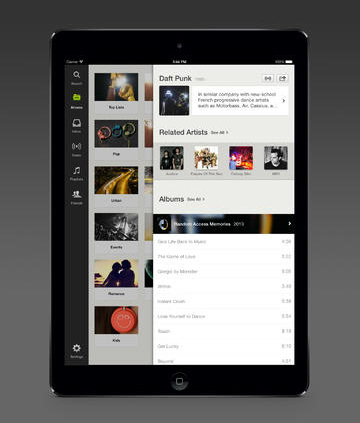 <strong>Spotify.</strong> For $10 a month, Spotify acts like a giant music store where you download as much music as you want for offline playback from your phone, tablet or computer. There's also a streaming radio option, and if you don't want to pony up $10 a month for the premium version, there's an ad-supported version that lets you listen to any song for free.
