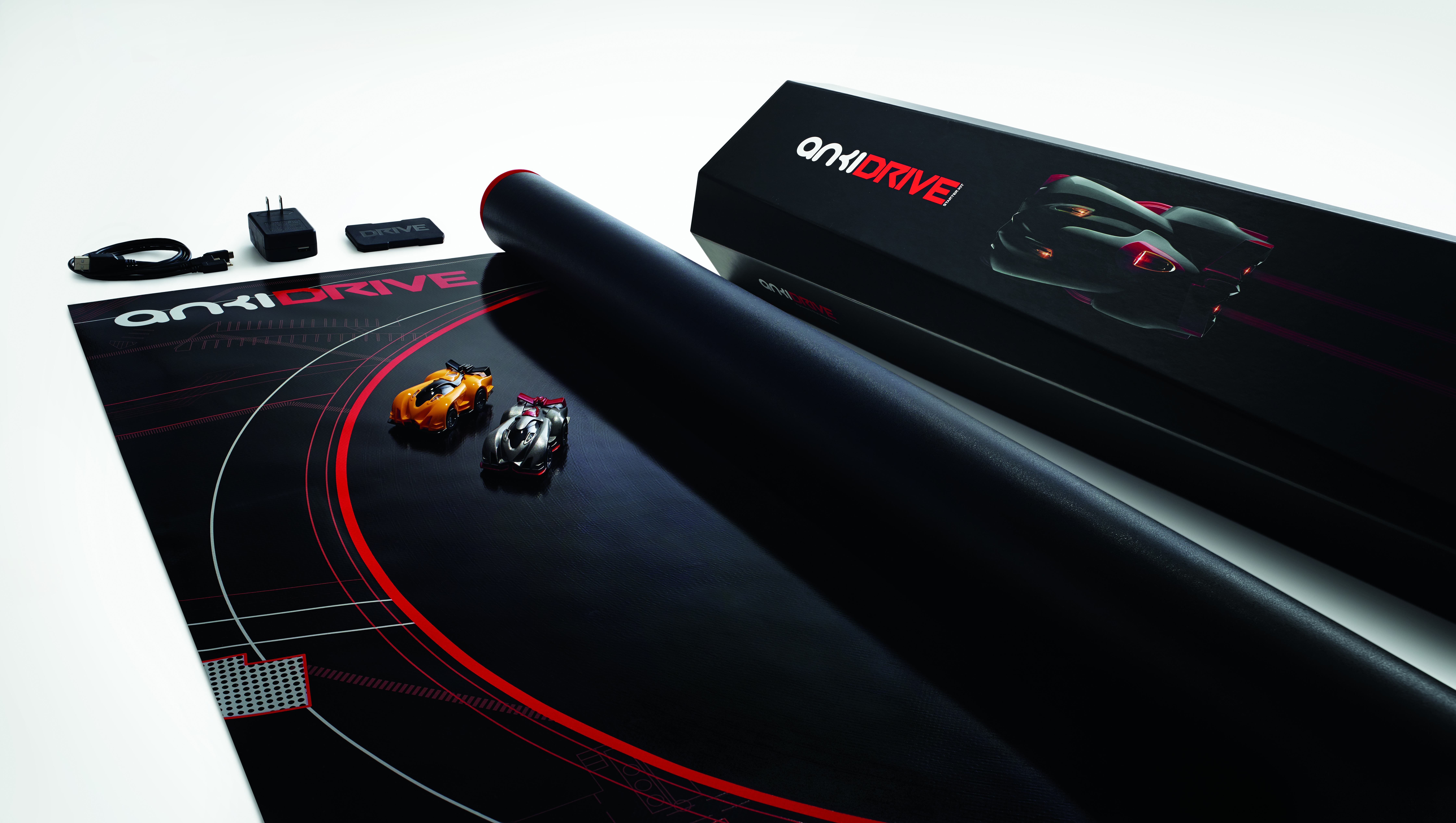 The Anki Drive game uses AI-enabled stock cars that players can control with their smartphones.
