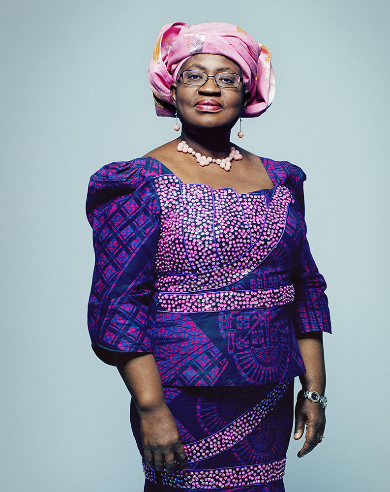 Ngozi Okonjo-Iweala. From TIME's  100 Most Influential People in the World.  May 5 / May 12, 2014 issue.