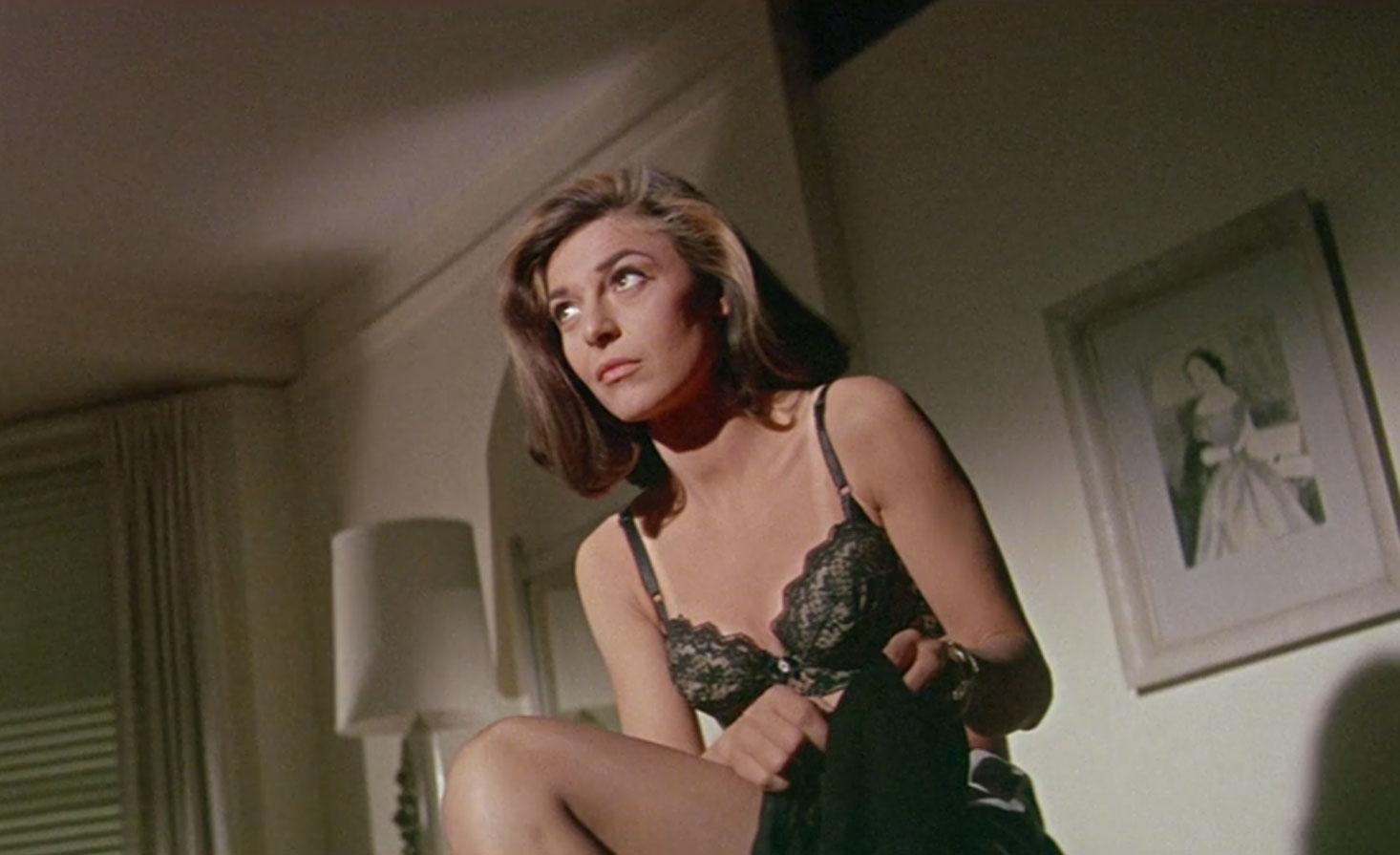 Mrs. Robinson's Lace Bra                                Anne Bancroft seduced audiences — and Dustin Hoffman's Benjamin Braddock — with her black brassiere in the classic 1967 film The Graduate.