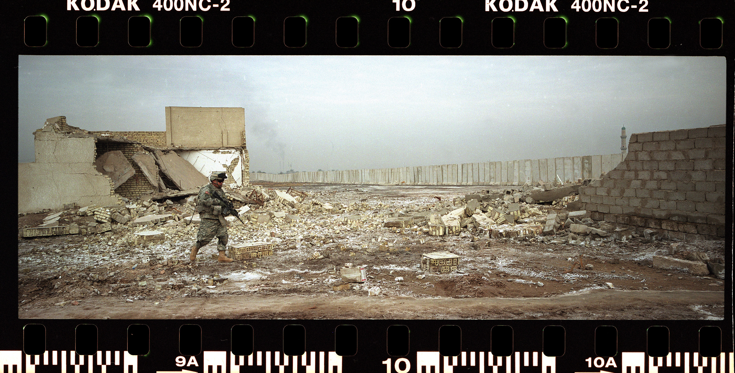 Southern Baghdad in 2008. Kozyrev was shooting with different cameras and film.