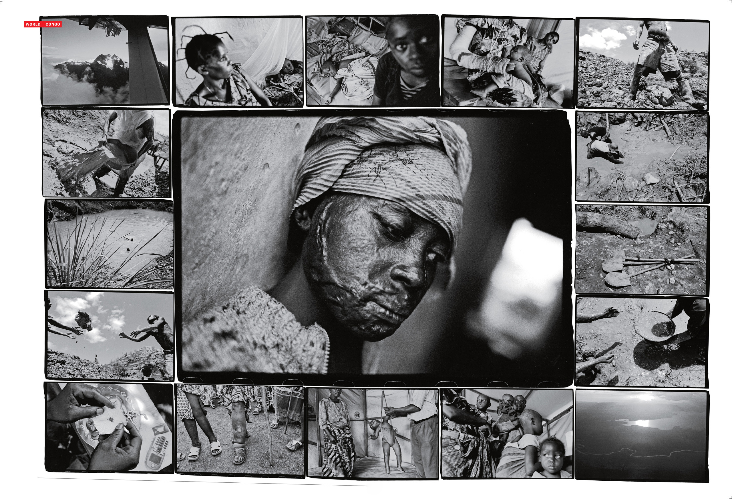 From the March 9, 2009 issue of TIME. We took a different approach in 2008 and 2009, after James Nachtwey came back from a trip documenting the war in eastern Congo. It was a year where the news cycle was dominated by two main stories: the Presidential election and the economic crisis, leaving us with fewer pages to tell long stories in depth photographically. Nachtwey overcame that hurdle by creating these montages, which he presented to the magazine. We agreed to publish them immediately on first look.