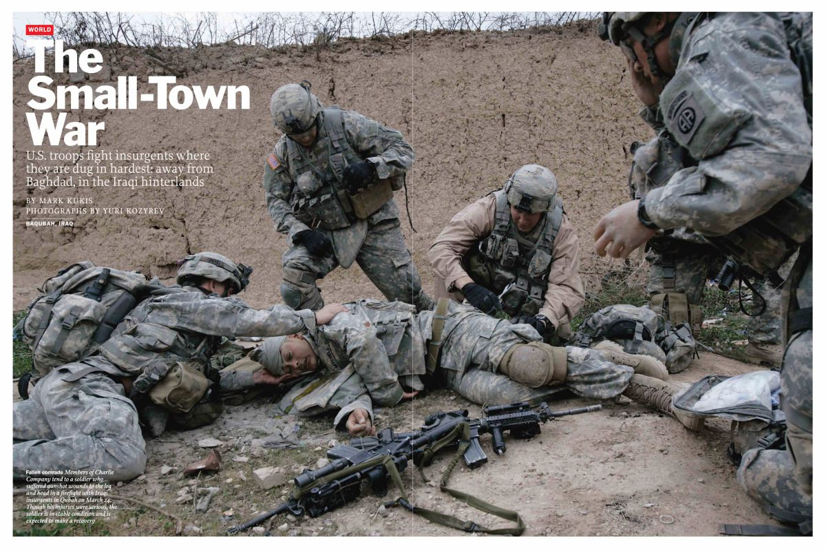 From the April 9, 2007 issue of TIME.  During the height of the Sunni insurgency, the only way to safely access that story was to embed, as Yuri Kozyrev did with Charlie Company in Diyala province.