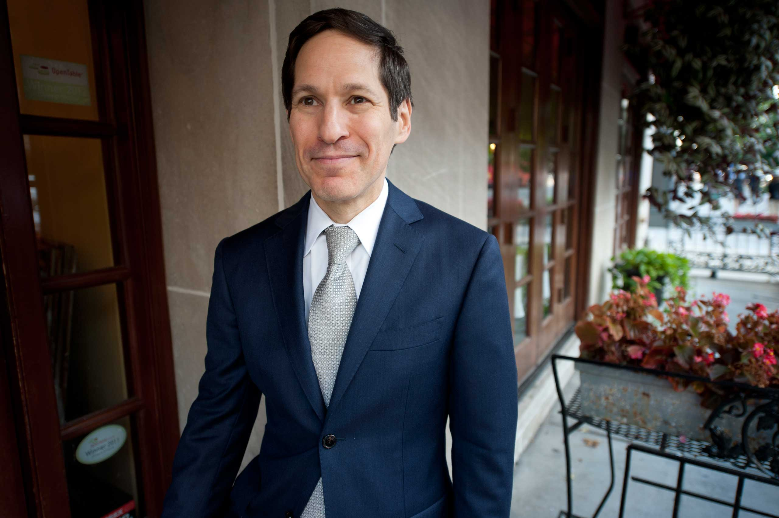 Centers for Disease Control and Prevention Director Tom Frieden poses for a photo in downtown Washington on Sept. 12, 2013.