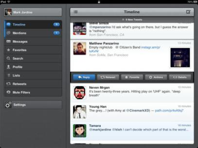 <strong>Tweetbot for Twitter.</strong> There are plenty of free ways to interact with Twitter, but the $3 Tweetbot app is well worth the price of admission, with an eye-popping design, time-saving gestures that you can customize to perform various tricks and connections to several third-party web services.