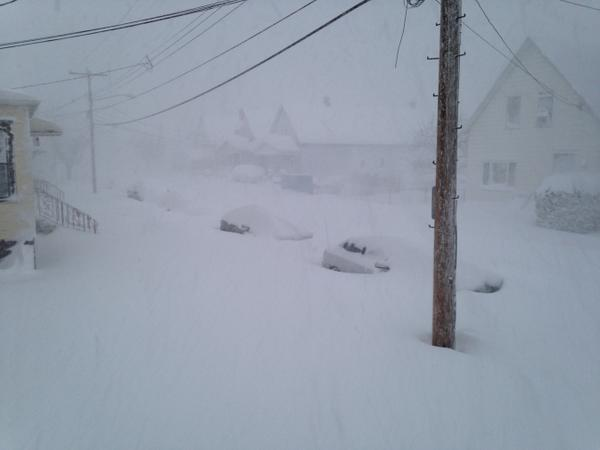 "Corey Reichle posted this photo showing the scene ""Outside my door this morning."""