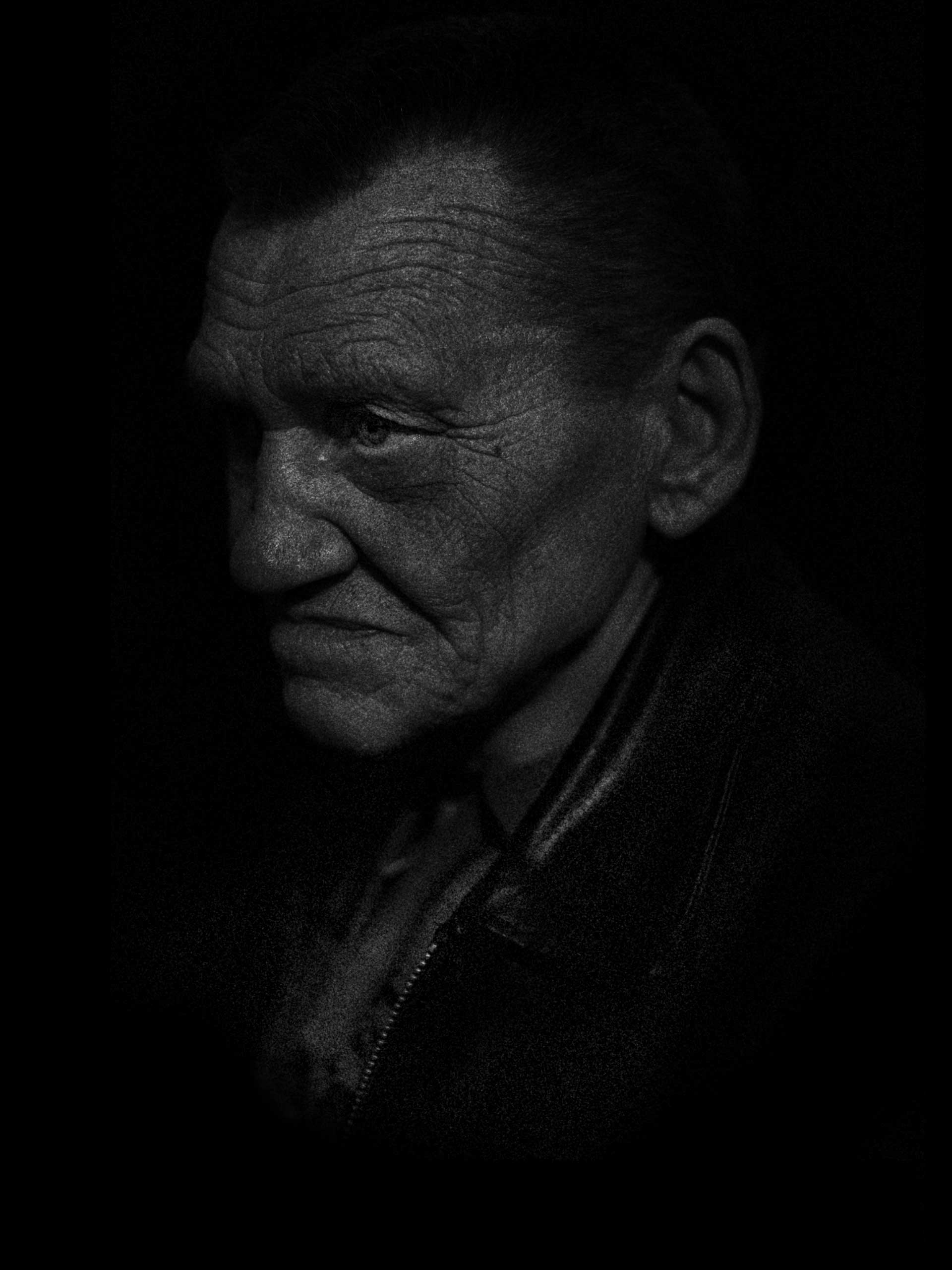 Alexander is an elderly man living in the shelter with his sister and her family. Donetsk, Petrovsky District of Ukraine. Nov. 1, 2014.