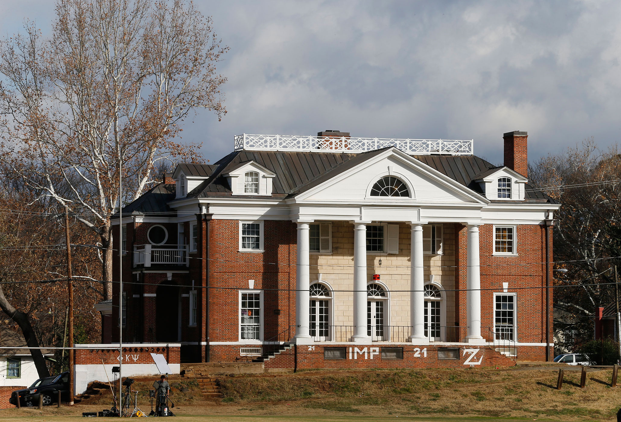 The Phi Kappa Psi fraternity house at the University of Virginia in Charlottesville, Va., on Nov. 24, 2014.