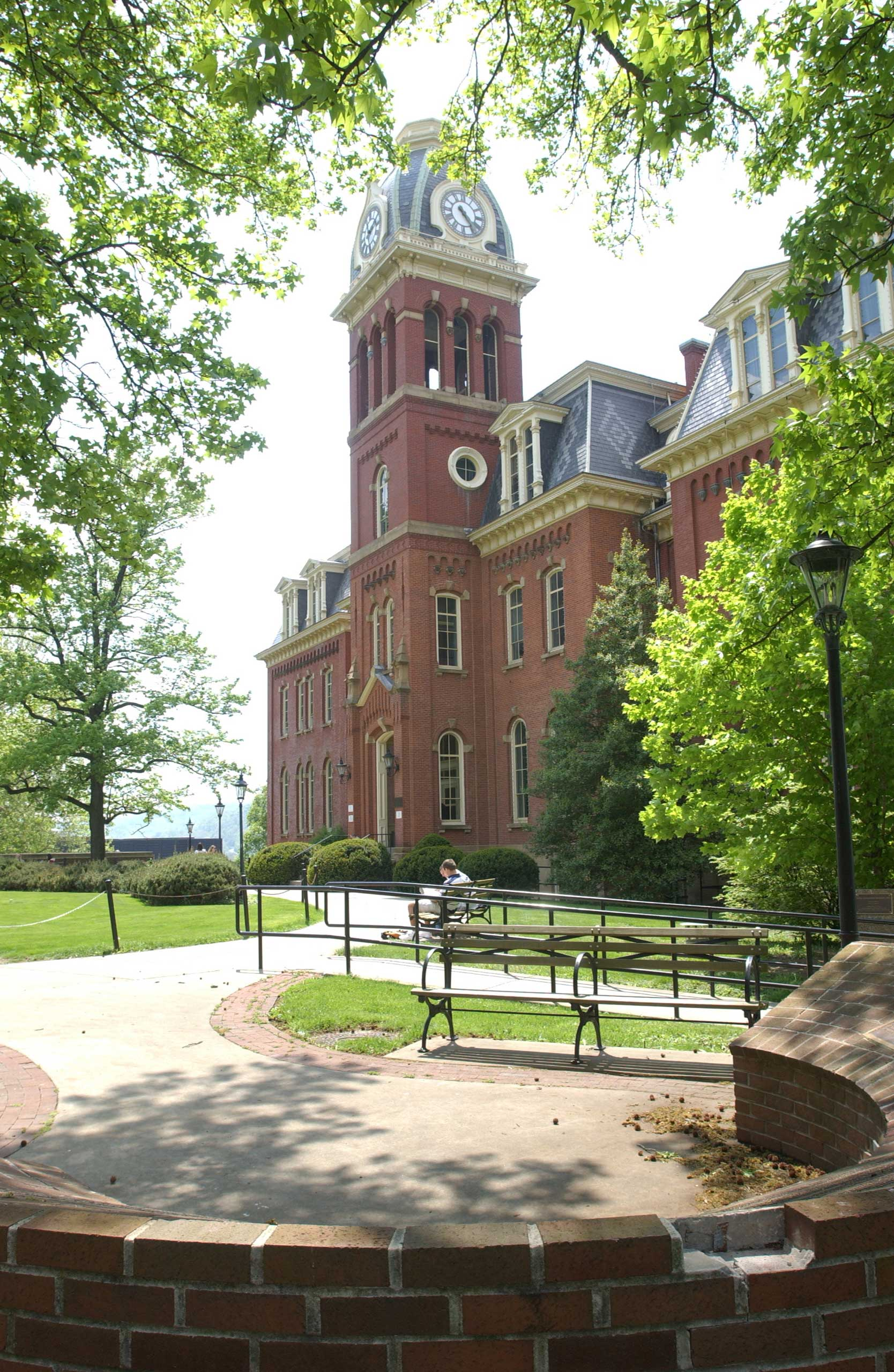General view of the Woodburn Hall on the campus of the West Virginia University Mountaineers circa 2011 in Morgantown, West Virginia.